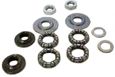 Axle Parts Set, Bearings & parts for Worksman Front Load Tricycles Steering & Front Wheels