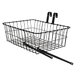 "Basket Front Steel Medium Black 18"" X 13"" X 6"""