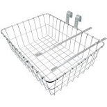 "Basket Front Steel Medium Silver 18"" X 13"" X 6"""