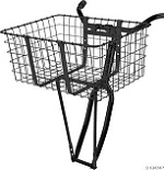 "Basket Front Steel Large 21"" X 14.75"" X 9"" Black"