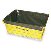 "Liner fits Basket Front Mount Large (18-150 & 18-155) 21"" X 15"" X 9"" Color Yellow"