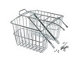Basket Rear Steel Silver with integrated carrier Medium double rear baskets