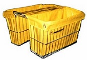 "Liner fits Rear Large Double Basket with integrated carrier 18"" X 7"" X 12"" (18-190) Color Yellow"