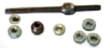 Axle for Worksman Front Drum Brake Wheel with Nuts & Cones