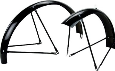 "Fender Set Black, Balloon for 26"" Wheels, front and rear, complete"