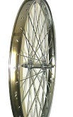 Wheel Front 26 X 1.75/2.125, Chrome steel rim with 36 - 120 ga. spokes