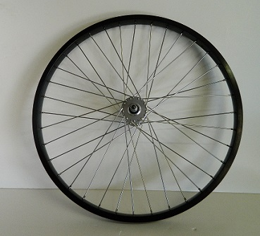 Wheel Front 26 X 1.75 Alloy Black Rim with 36 - 105 ga. spokes