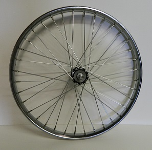 Wheel Front 26 X 2.125 K/O Hub, Steel Chrome Worksman rim for INB/G & M2600