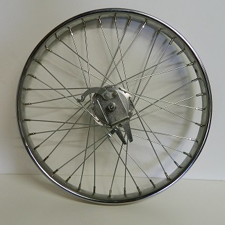 Wheel Front Drum Brake 24 X 2.125 Steel Chrome Worksman rim