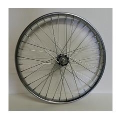 Wheel Front 20 X 2.125 K/O Hub Steel Chrome Worksman rim for Low Gravity Bike (LGB)