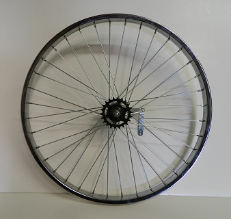 Wheel Rear 26 X 1.75/2.125, Shimano Coaster Brake, Chrome steel w/ 36-105ga spokes