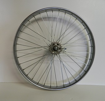 Wheel Rear 26 X 1.75/2.125, Shimano Coaster Brake, Chrome steel with 36 - 120 ga. spokes