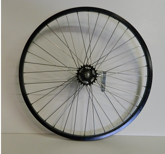 Wheel Rear 26 X 1.75 Shimano Coaster Brake Alloy Black Rim with 36 - 105 ga. spoke