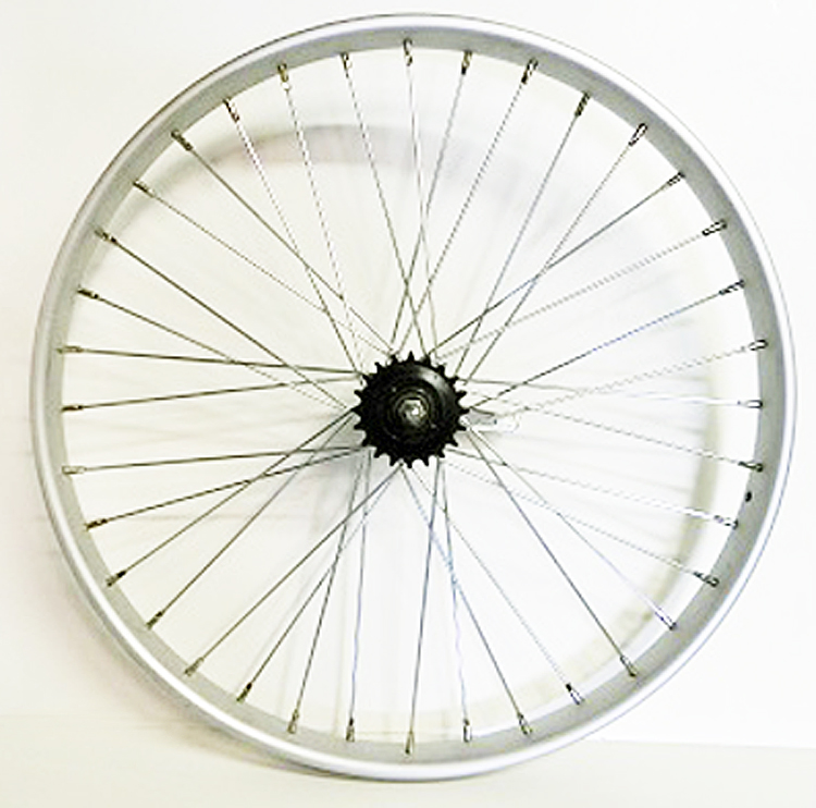 Wheel Rear 26 X 2.125 Shimano Coaster Brake Alloy Worksman Rim, 36-11ga spokes