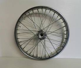 "Wheel 20"" Freewheel Side Steel Worksman rim, 36-11ga Spokes, for M2620/2020, U & STPT"