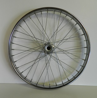 "Wheel 24"" Freewheel Side Worksman Steel Rim W/ 36-11ga Spokes"