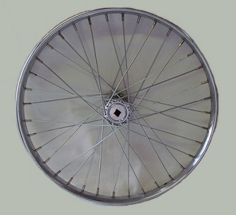 "Wheel 24"" Drive Side Worksman Steel Rim W/ 36-11ga Spokes for Adaptable (ADP) Tricycle"