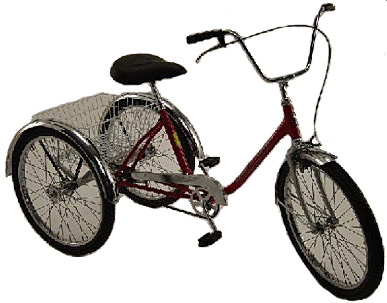 Trike, Executive, Worksman. Medium Duty Use Tricycle
