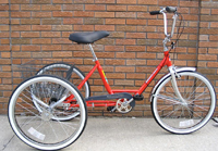Trike Worksman Eagle, recreational model (non-Industrial).  Comes with 3 speed coaster brake and front caliper brake